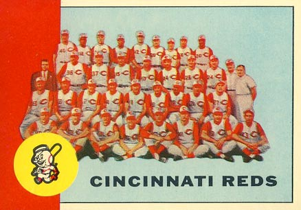 1963 Topps Cincinnati Redlegs Team #63 Baseball Card