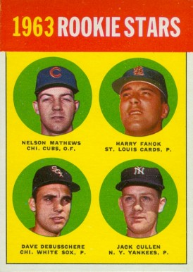 1963 Topps 1963 Rookie Stars #54-1963 Baseball Card