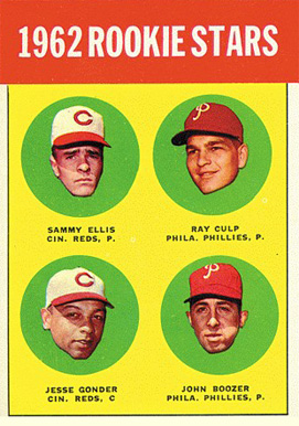 1963 Topps 1962 Rookie Stars #29b Baseball Card