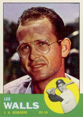 1963 Topps Lee Walls #11 Baseball Card