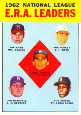 1963 Topps N.L. E.R.A. Leaders #5 Baseball Card