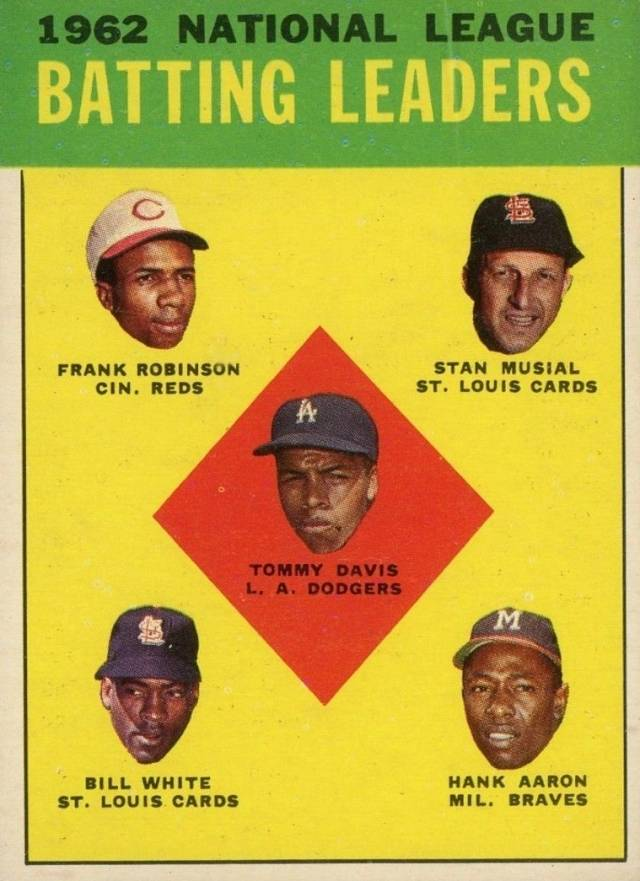 1963 Topps N.L. Batting Leaders #1 Baseball Card