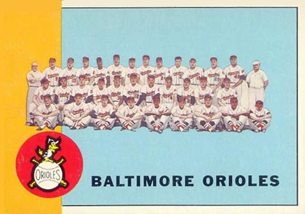1963 Topps Baltimore Orioles Team #377 Baseball Card