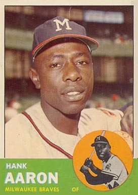 1963 Topps Hank Aaron #390 Baseball Card