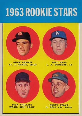 1963 Topps Duke Carmel #544 Baseball Card