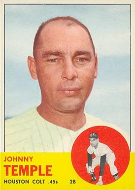 1963 Topps Johnny Temple #576 Baseball Card