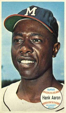 1964 Topps Giants Hank Aaron #49 Baseball Card