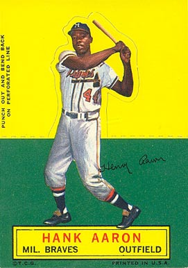 1964 Topps Stand-Up Hank Aaron #1 Baseball Card