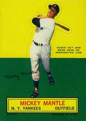 1964 Topps Stand-Up Mickey Mantle #45 Baseball Card