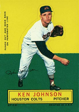 1964 Topps Stand-Up Ken Johnson #37 Baseball Card