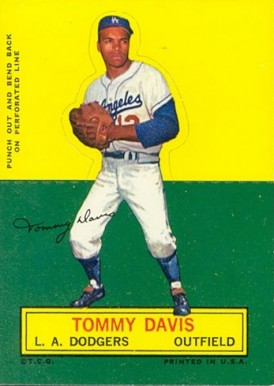 1964 Topps Stand-Up Tommy Davis #21 Baseball Card