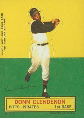 1964 Topps Stand-Up Donn Clendenon #18 Baseball Card