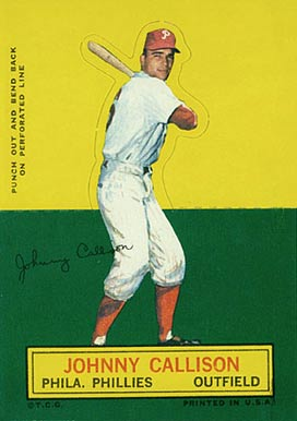 1964 Topps Stand-Up Johnny Callison #12 Baseball Card