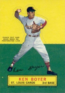 1964 Topps Stand-Up Ken Boyer #10 Baseball Card