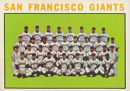1964 Topps San Francisco Giants Team #257 Baseball Card