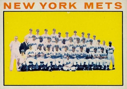 1964 Topps New York Mets Team #27 Baseball Card