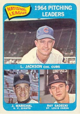 1965 Topps Larry Jackson #10 Baseball Card
