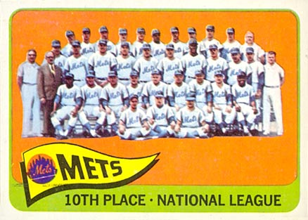 1965 Topps New York Mets Team #551 Baseball Card