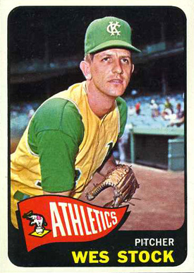 1965 Topps Wes Stock #117 Baseball Card