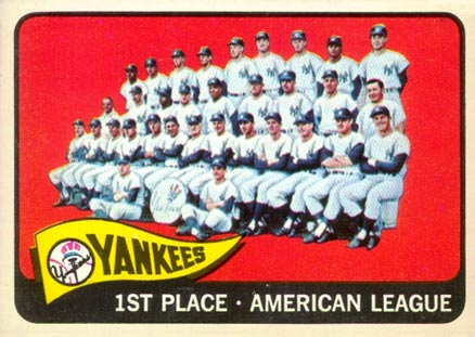 1965 Topps New York Yankees Team #513 Baseball Card