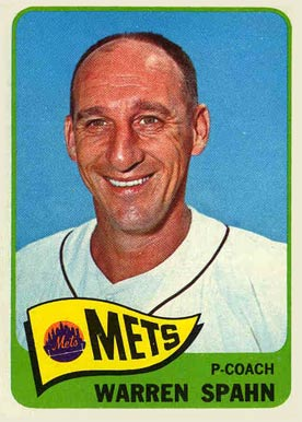 1965 Topps Warren Spahn #205 Baseball Card