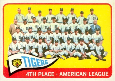1965 Topps Detroit Tigers Team #173 Baseball Card
