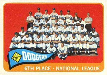 1965 Topps Los Angeles Dodgers Team #126 Baseball Card