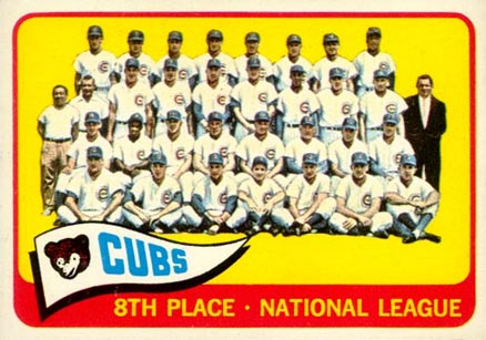 1965 Topps Chicago Cubs Team #91 Baseball Card