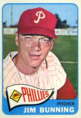 1965 Topps Jim Bunning #20 Baseball Card