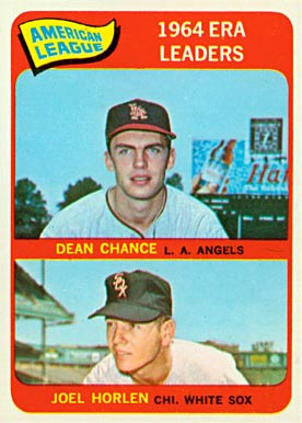 1965 Topps Dean Chance #7 Baseball Card