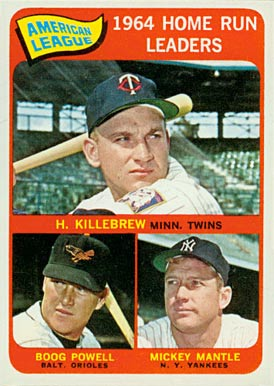 1965 Topps Harmon Killebrew #3 Baseball Card