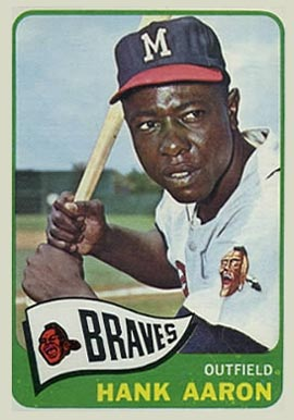 1965 Topps Hank Aaron #170 Baseball Card