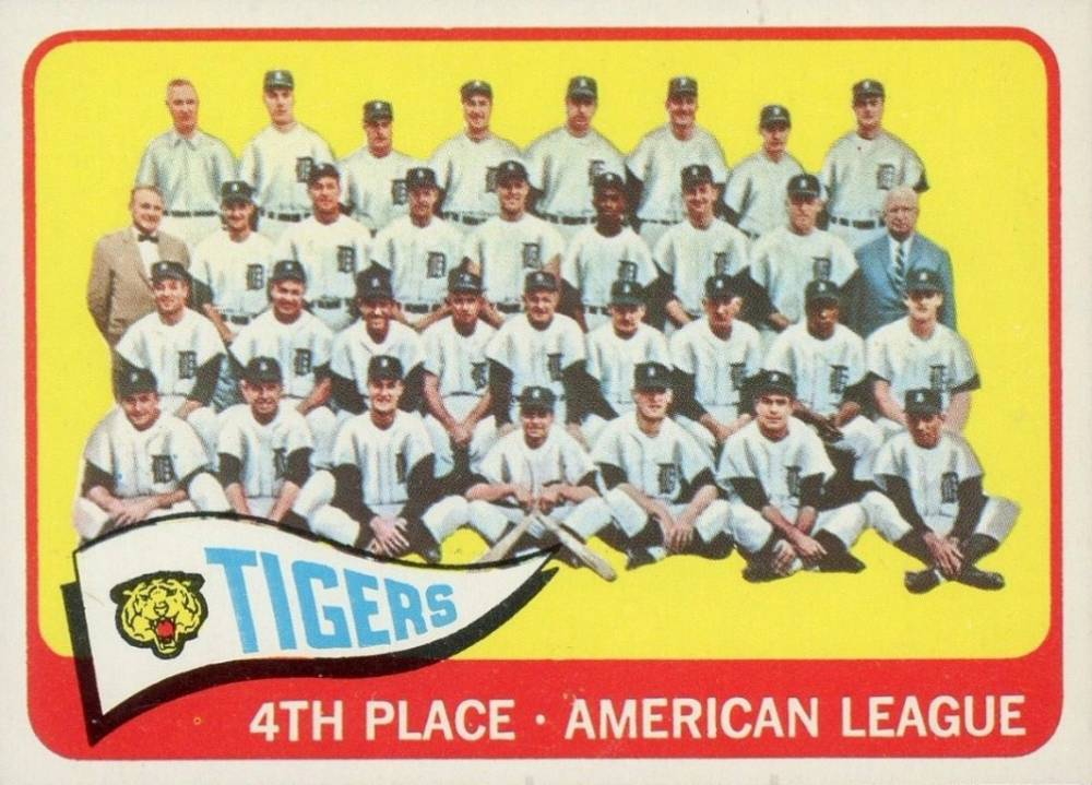 1965 Topps Tigers Team #173 Baseball Card
