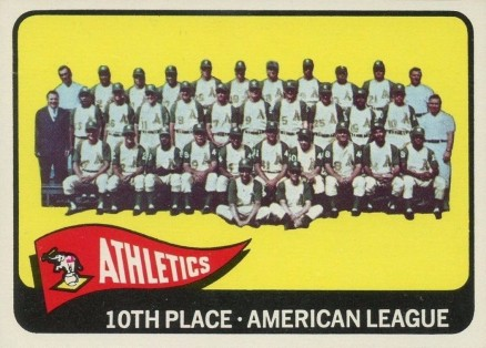 1965 Topps Athletics Team #151 Baseball Card