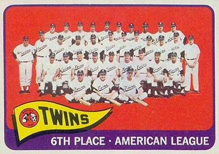 1965 Topps Minnesota Twins Team #24 Baseball Card