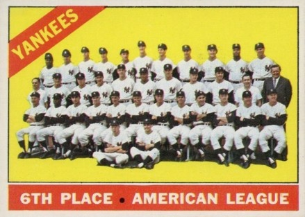 1966 O-Pee-Chee New York Yankees Team #92 Baseball Card