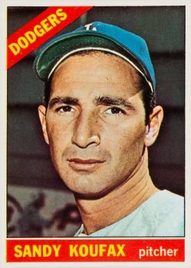1966 Topps Sandy Koufax #100 Baseball Card