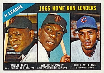 1966 Topps N.L. Home Run Leaders #217 Baseball Card