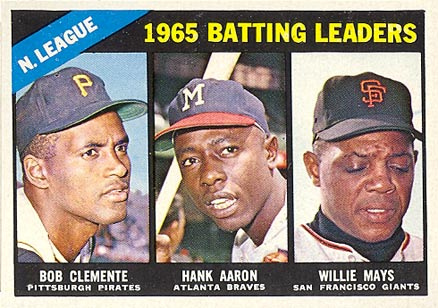 1966 Topps Hank Aaron #215 Baseball Card