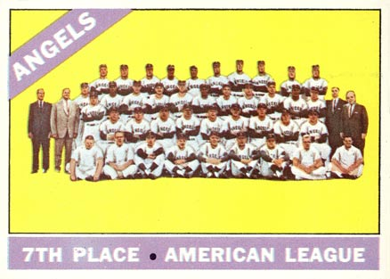 1966 Topps Los Angeles Angels Team #131 Baseball Card