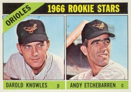 1966 Topps Andy Etchebarren #27 Baseball Card