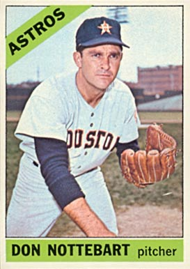 1966 Topps Don Nottebart #21 Baseball Card