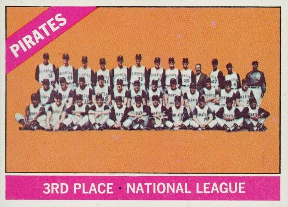 1966 Topps Pittsburgh Pirates Team #404d Baseball Card