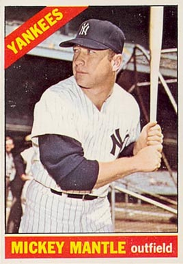1966 Topps Mickey Mantle #50 Baseball Card