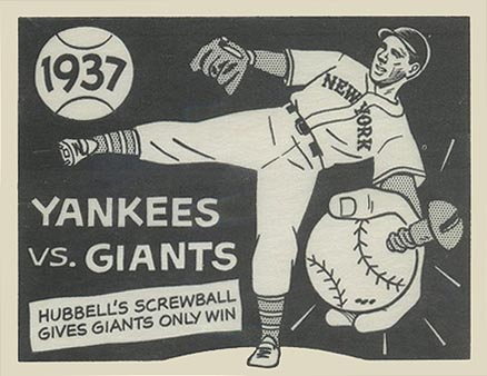 1967 Laughlin World Series 1937- Yankees Vs. Giants #34#11 Baseball Card