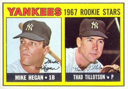 1967 Topps Mike Hegan #553 Baseball Card