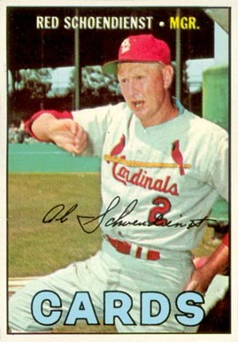 1967 Topps Red Schoendienst #512 Baseball Card