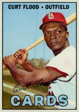 1967 Topps Curt Flood #245 Baseball Card