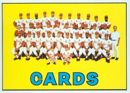 1967 Topps St. Louis Cardinals Team #173 Baseball Card