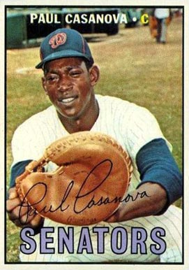 1967 Topps Paul Casanova #115 Baseball Card